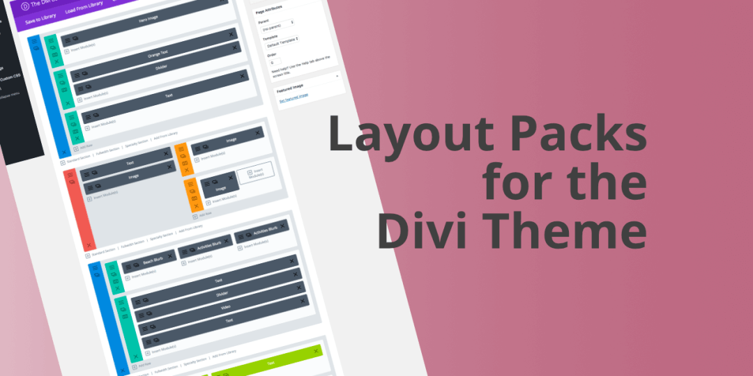 Divi Theme Layout Packs