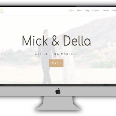 Divi Wedding Website Layout