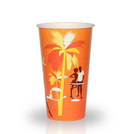 """Бумажный стакан 400 мл """"Пляж"""" 50 шт"""
