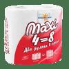 Туалетная бумага двухслойная MAXI 4=8
