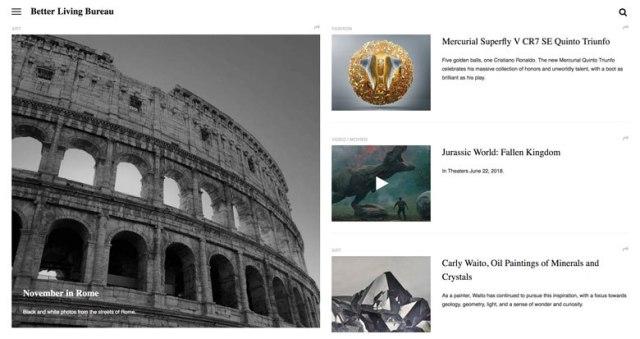 Screenshot of betttter.com and use of flat design on their website.