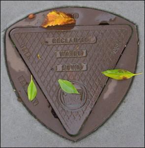 Tapa de alcantarilla de San Francisco con forma de triángulo de Reuleaux