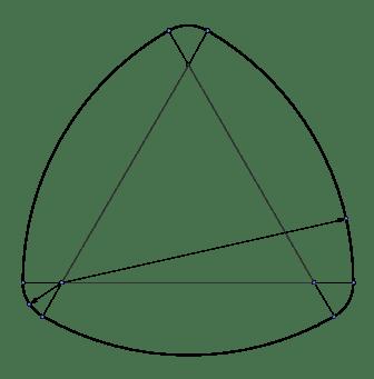 Triangulo de Reuleaux con vértices redondeados