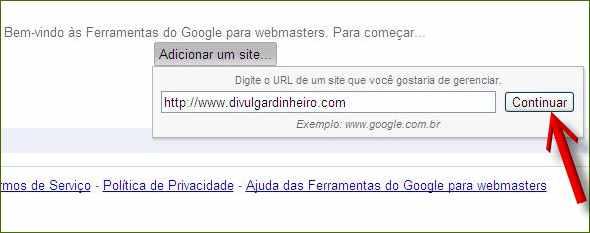ferramentas google webmasters tools informe seu site