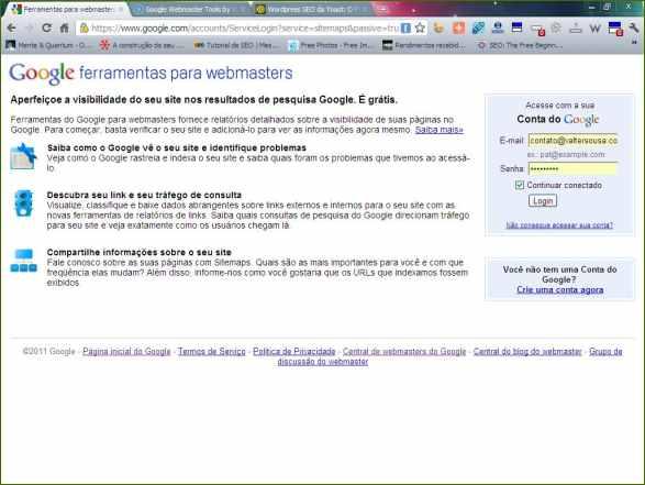 google webmasters tools ferramentas