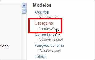 wordpress menu aparencia submenu editor header cabeçalho