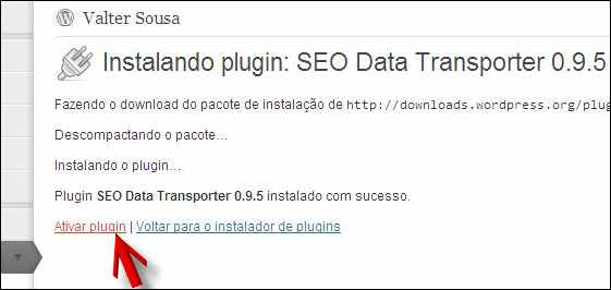 plugin seo data transporter instalado