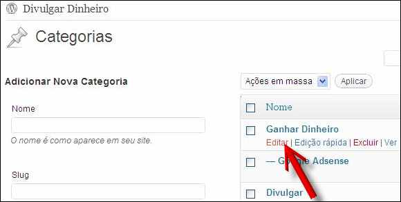 editar categoria blog wordpress propriedades