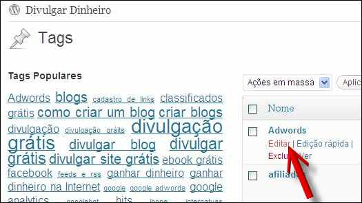 editar tag blog wordpress