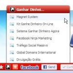 botão lista links barra ferramentas wibiya toolbar