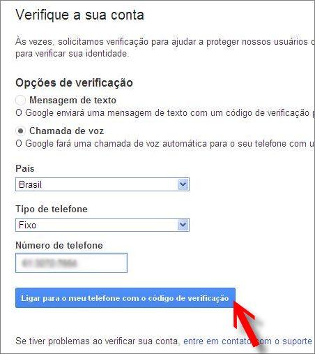 formulário verificação identidade google contas