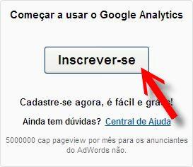 botão inscrever google analytics