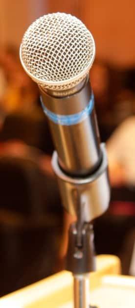 Microfone da Palestra