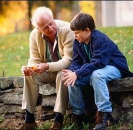 Avô vovô e neto netinho