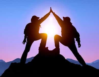 coaching topo da montanha
