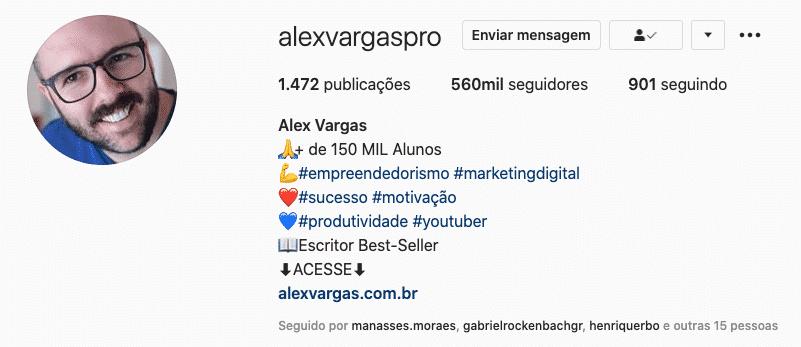 Exemplo de bio de como ganhar dinheiro no Instagram e Whatsapp e como ganhar seguidores no Instagram