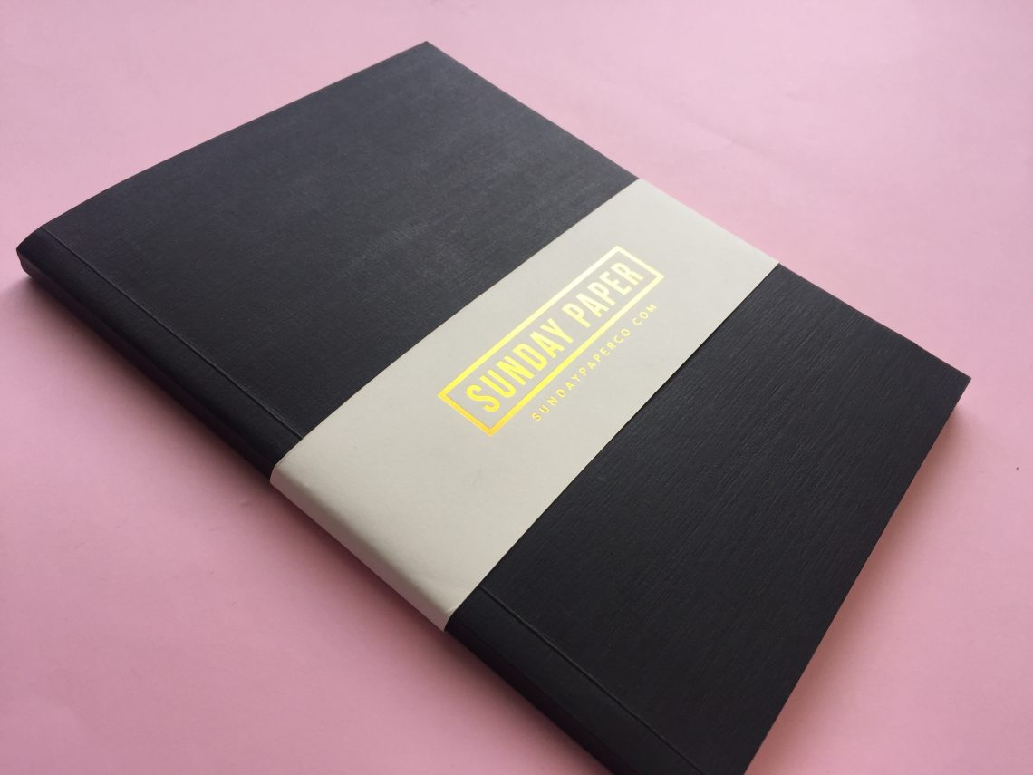 Sunday Paper Co Simple Notebook In Black Diwa Daily