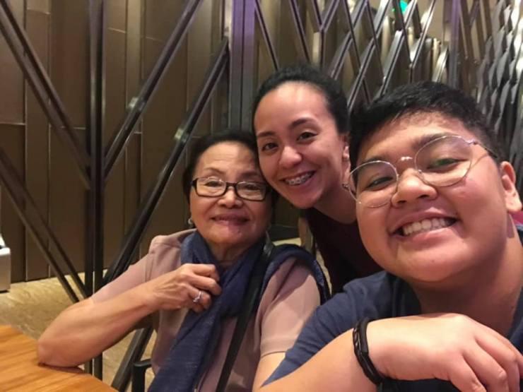 Ama, Katrina, and I at the hotel
