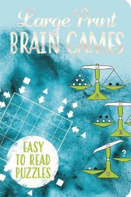 Large Print Brain Games (Deluxe 192pp Puzzles) (192pp Royal-format foil puzzles)