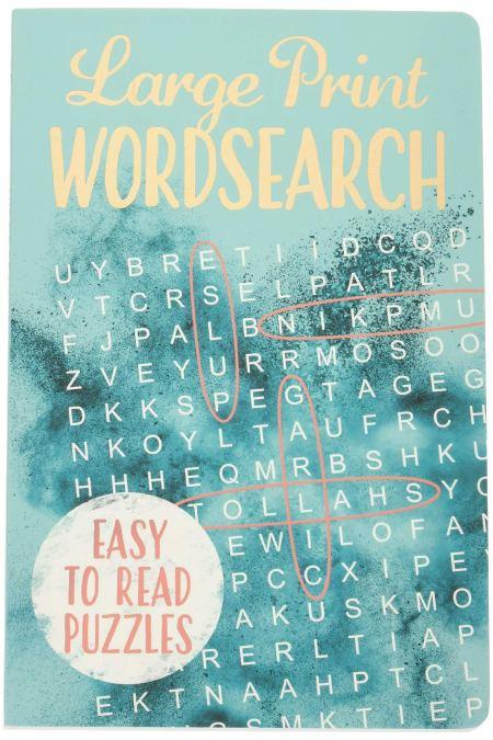 Large Print Wordsearch (Deluxe 192pp Puzzles) (192pp Royal-format foil puzzles)