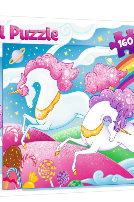 Galloping unicorns Trefl Puzzle 160 (410x278) 160 Pieces 15372