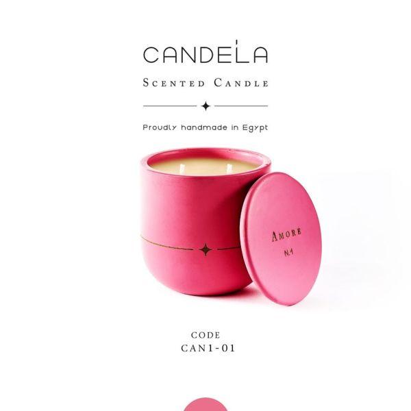 Amore Light Fuchsia Candle