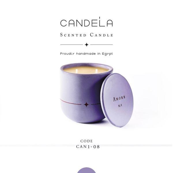 Amore Light Purple Candle