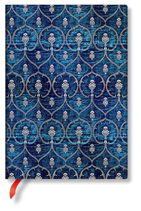 Midi Blue Velvet lined Notebook