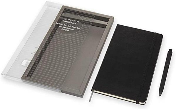 Black Large Ruled Notebook & G