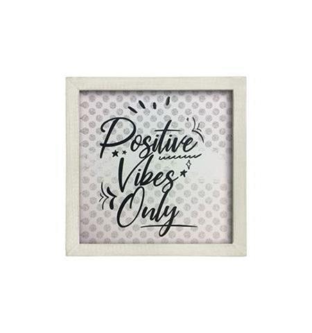 Positive Frame white16x16