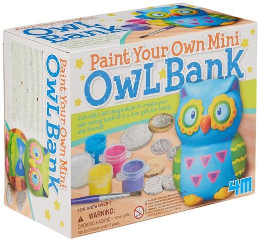 Mini Owl Bank Ages 5+