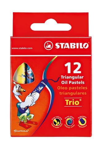Stabilo 12 Short Wax Triangula