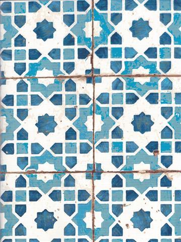 Blue Moasic A4 Sketck