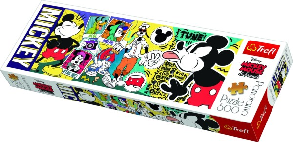 legendary Mickey Mouse Trefl Puzzle Size Panorama 500 660x237 (29511)