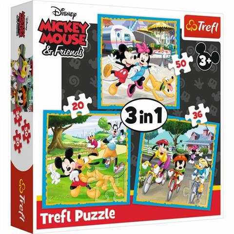 Mickey Mouse with friends Trefl Puzzle Size 3in1 200x195 (34846)