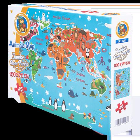 Animals Map Jumbo Floor Puzzle MA- 1055