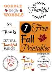 Seven FREE Fall Printable Signs for Crafts and Decor