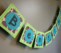 DIY Custom Baby Name Banner -Baby Shower and Nursery Tutorial