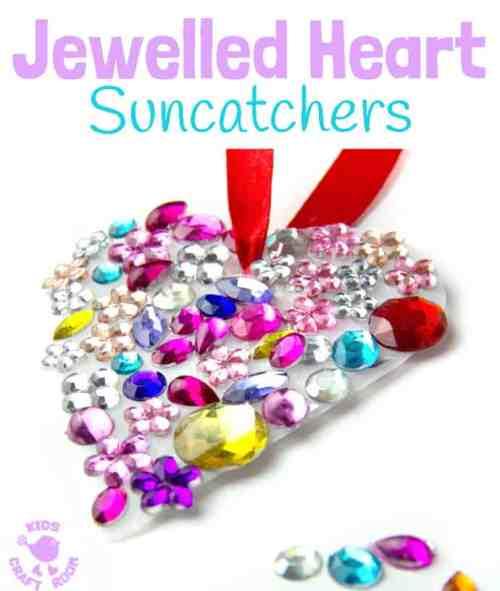 Jewelled Hearts Valentine's Day Craft