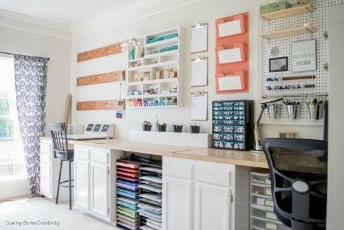craft room storage organization