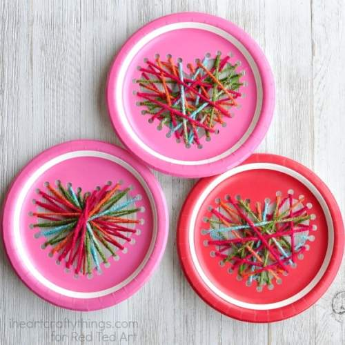 Valentine's Day Ideas with Paper Plate Hearts