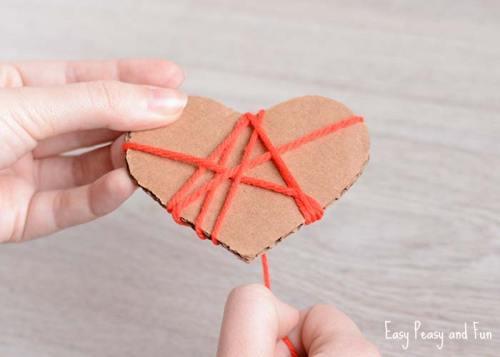 Yarn Heart's Valentines Day Craft