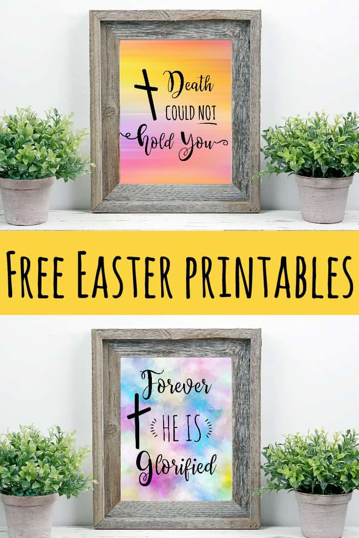 Free Printable Easter Decorations. Jesus entered on a watercolor background