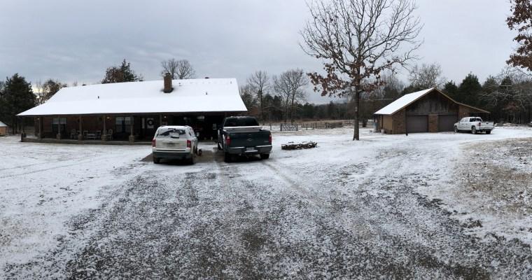 A Snowy Day on the Farm