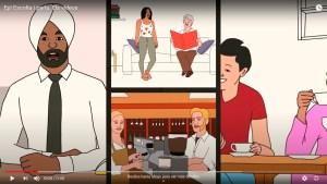 Captura d'un dels vídeos del curs oral de català 'Ep! Escolta i parla'