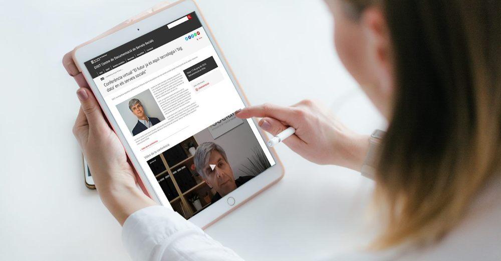 Maqueta de la conferència de Toni Codina a l'apartat DIXIT TV del portal DIXIT