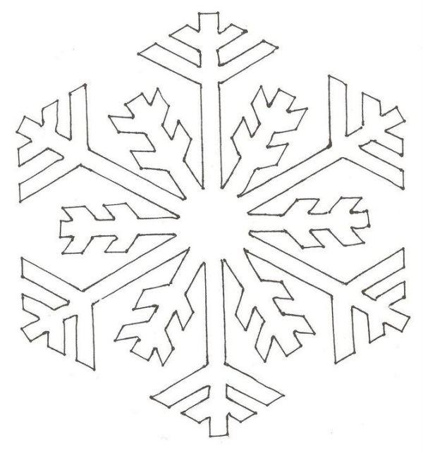Snowflake stencil (14)