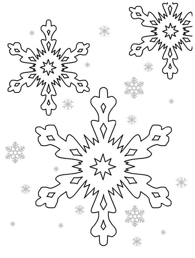 large snowflakes coloring pages - photo#28