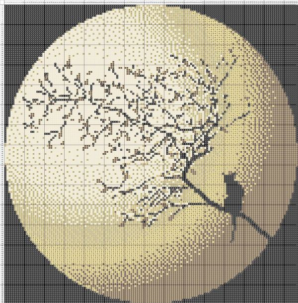 Free Cross Stitch Pattern Moon Cat | DIY 100 Ideas