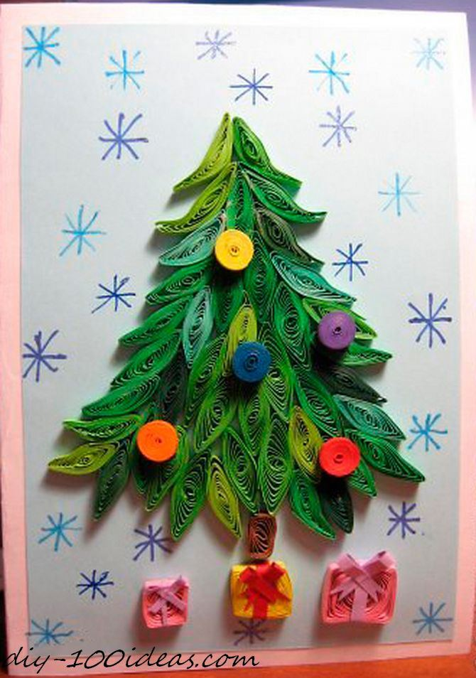 Quilling Christmas Card DIY 100 Ideas